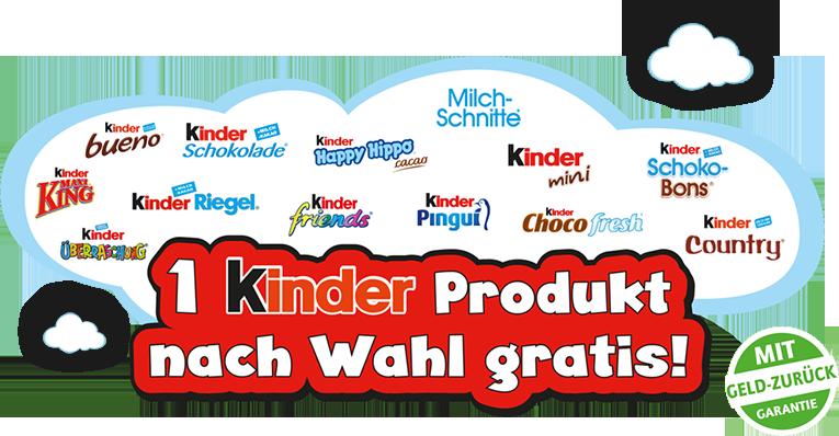 wolke 1 Kinder Produkt nach Wahl gratis   Ferrero Kindertag 2016