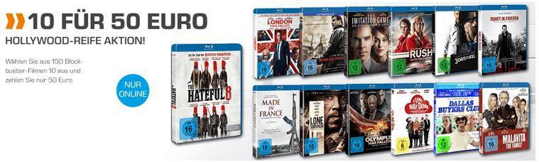 10 Blu ray für 50€ 10 Blockbuster Blu rays für 50€