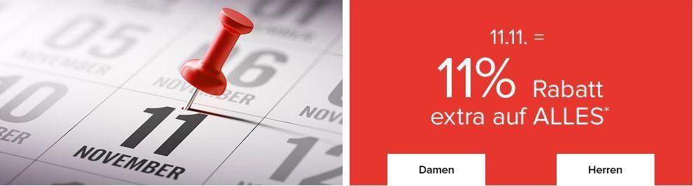 11.11.Rabatt dress for less   11% extra Rabatt auf (fast) alles bis Mitternacht