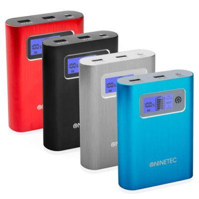 NINETEC PowerDrive   Powerbank 13.400 mAh und 64GB USB Speicher für 29,99€