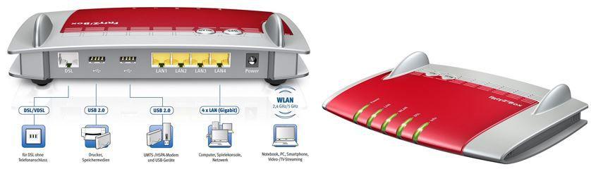 AVM FRITZBox 3390 AVM FRITZ!BOX 3390   dual WLAN N Router u. Modem mit 4x Gigabitports für 79,90€