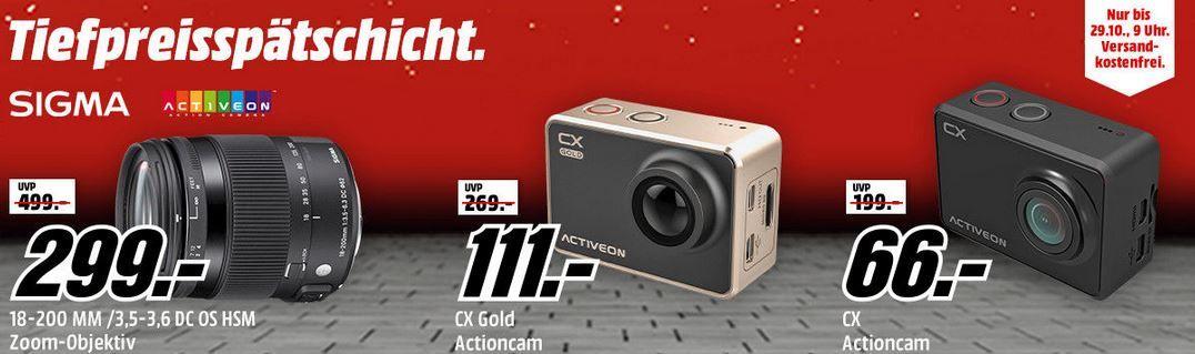ACTIVEON CX Actioncam Full HD für 66€   Media Markt Sigma Tiefpreisspätschicht