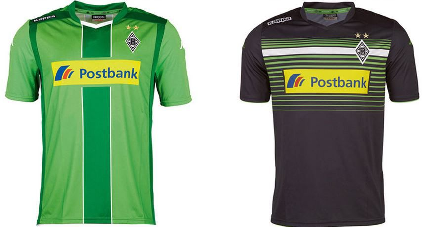 BMG Trickot Borussia Mönchengladbach Kappa   Herren und Kinder Trikots für je 19,99€