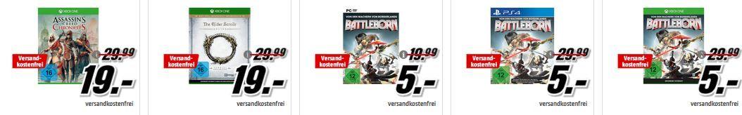 Battleborn Blockbuster Filme für 5€   im Media Markt Dienstag Sale