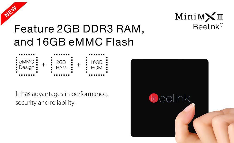 Beelink MINI MXIII II  Android TV Box mit 16GB für 39,89€