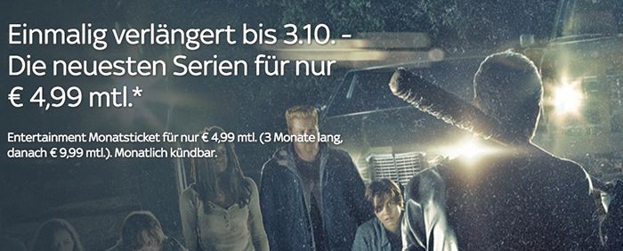 3 Monate Sky Sport , Entertainment  oder Cinema Ticket ab 4,99€ mtl.