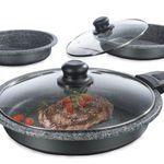 Kochwerk Pfannen-Set (20, 24, 28 cm) inkl. 2 Deckel + Griffe für 19,99€ (statt 65€)