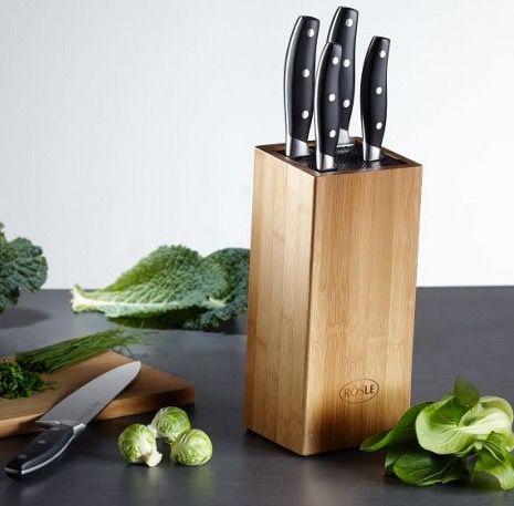 Rösle Messerblock aus Bambus 6 teilig für 33,85€ (statt 55€)