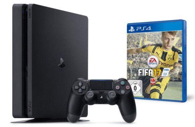 Playstation 4 slim 500GB + Fifa 17 + 2. Controller für 299€ @Amazon.de