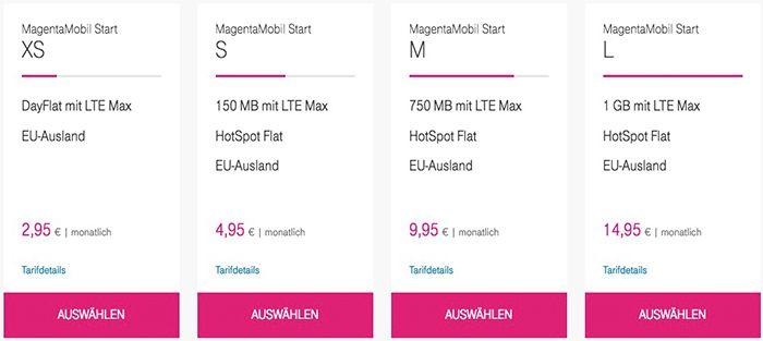Bildschirmfoto 2016 10 10 um 09.37.17 Telekom Magenta Prepaid LTE Tarife mit bis zu 1GB ab 4,95€ mtl. + 10€ Guthaben