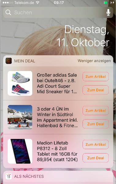 Bildschirmfoto 2016 10 11 um 09.30.20 Mein Deal Schnäppchen App Update laden und iPhone 7 oder Amazon Gutscheine gewinnen
