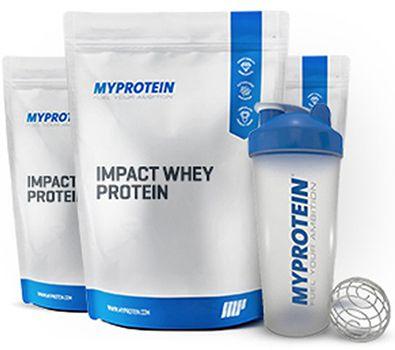 3kg Myprotein Whey + Shaker für 29€   6kg + Shaker nur 50€!