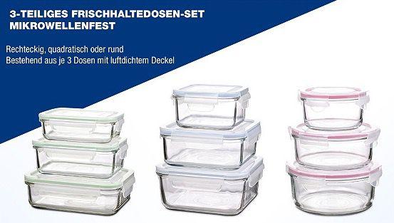 TOP! Glasslock Sale bei vente privee   z.B. 3er Set Frischhaltedosen aus Glas für 20,90€ (statt 28€)