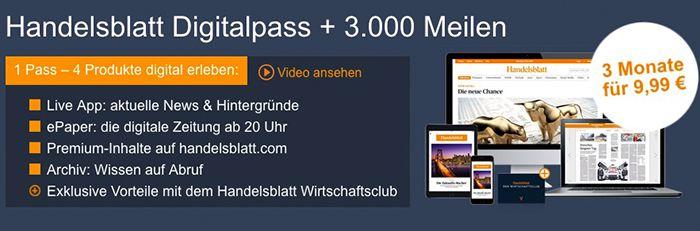 3.000 Miles & More Meilen für 9,99€ dank Handelsblatt Digitalpass