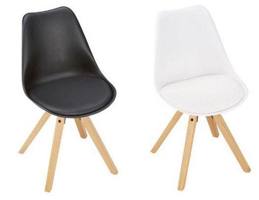 Stuhl Ricky mit Holzfüßen für 24,90€   2 Stück für 40€