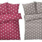 Bettwäsche mit Sternen aus Baumwolle 135 x 200 cm für 14,99€