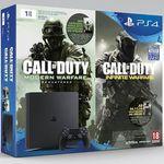 PlayStation 4 1TB Slim + Call Of Duty: Modern Warfare + Call Of Duty: Infinite Warfare für 299,99€