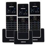 4er Set Medion Life P63994 DECT Schnurlos-Telefone + Anrufbeantworter für 69,95€ (statt 90€)