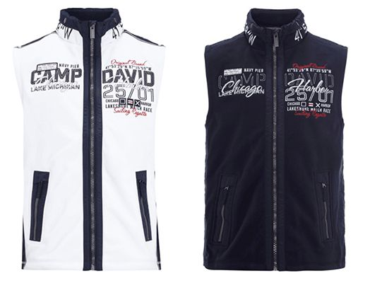 Camp David Fleeceweste mit herausnehmbarer Kapuze für 59,95€
