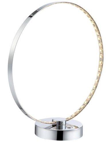 Runde LED Tischlampe mit Chrom Fuß für 24,90€