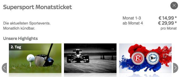 3 Monate Sky Supersport Ticket nur 14,99€ mtl.   nur Neukunden & danach 29,99€pro Monat