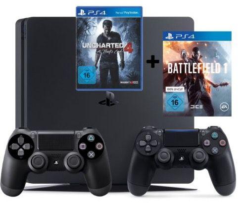 Bildschirmfoto 2016 10 21 um 13.44.57 Playstation 4 slim 1TB + 2. Controller + Battlefield 1 + Uncharted 4 für 369,99€ (statt 438€)