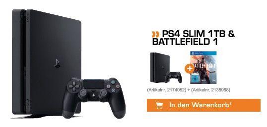 Bildschirmfoto 2016 10 21 um 14.20.18 Playstation 4 slim 1TB + Battlefield 1 für 269€ (statt 321€)   Kreditkarte nötig!