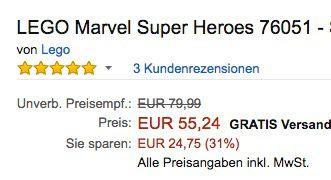 Lego Marvel Super Heroes   Superhelden Einsatz am Flughafen für 55,24€ (statt 65€)