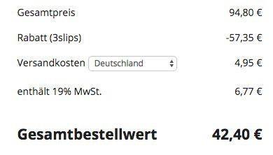 Fehler? 5 BHs + 6 Slips für 42,40€
