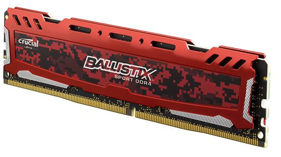 Schnell! Crucial Ballistix Sport 16GB Single (DDR4 2400, CL16) für 55€ (statt 73€)