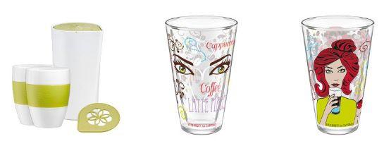20% Rabatt auf Tassimo Getränke & Accessoires   z.B. 3 Latte Macchiato Gläser für 36€ (statt 45€)