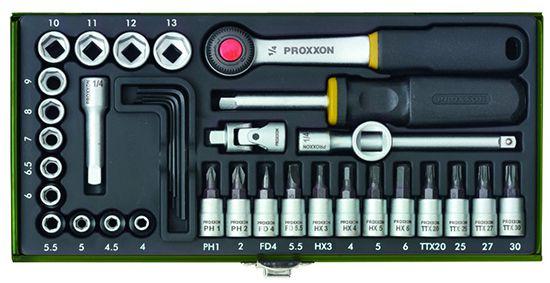 Proxxon 23080 Steckschlüsselsatz metrisch 1/4 (6.3 mm) 36 teilig für 25,19€ (statt 32€)