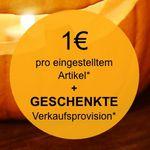 eBay Weekend Aktion: keine Verkaufsprovision + nur 1€ Gebühr bei eBay – gültig für 10 Angebote!