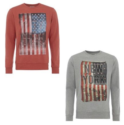 Jack & Jones Sweatshirt mit Flaggen Print für 13,99€