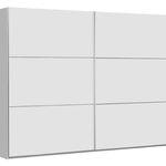 TI`ME Schwebetürenschrank Weiß (270 x 210 x 61cm) für 299€ + gratis Lieferung