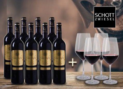 Bildschirmfoto 2016 10 26 um 15.54.34 8 Flaschen Casa Safra Rotwein + 4 Gläser für 34,90€
