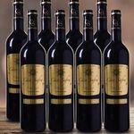 8 Flaschen Casa Safra Rotwein + 4 Gläser für 34,90€