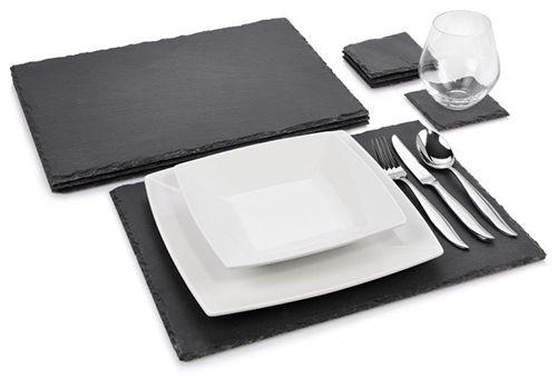 Sänger Schieferplatten Set Dinner 8 teilig für 19,99€ (statt 29€)