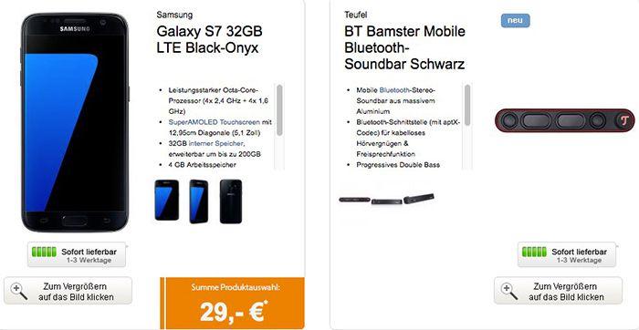 Bildschirmfoto 2016 10 28 um 13.12.30 otelo XL mit 2,5GB + Galaxy S7 + BT Bamster Bluetooth Soundbar für nur 29,99€ mtl.