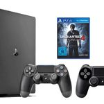 Playstation 4 slim 1TB + 2. Controller + Uncharted 4 für 299€ (statt 333€)