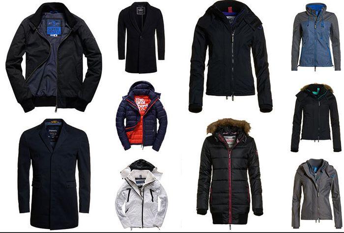 Superdry  Jacken   verschiedene Modelle für je 49,95€