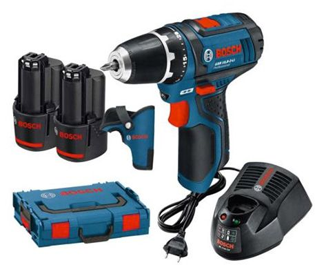 Bosch GSR 10,8 2 LI Akku Bohrschrauber 2 x 2Ah + L Boxx + 2 Einlagen für 89,91€