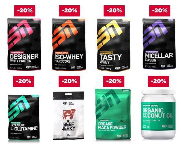 20% auf Produkte von ESN   auch auf Staffelpreise!