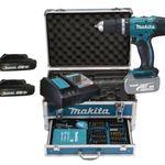 Makita DHP453RFX2 Akku-Schlagbohrschrauber + Alu-Koffer & 96-tlg. Zubehör für 207,40€ (statt 244€)