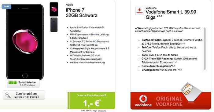 Bildschirmfoto 2016 12 09 um 14.31.19 iPhone 7 32GB + Vodafone Smart L mit 2GB LTE für 39,99€ mtl.