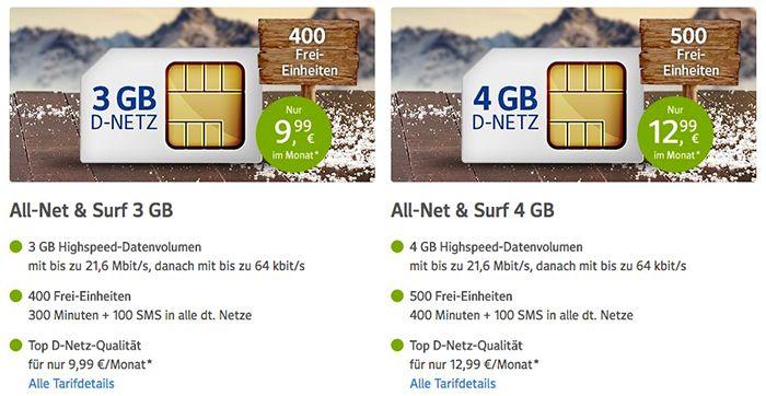 Bildschirmfoto 2016 12 28 um 10.38.23 1&1 All Net & Surf Special ab 6,99€/Monat   bis zu 300 Freieinheiten + 4 GB Internet
