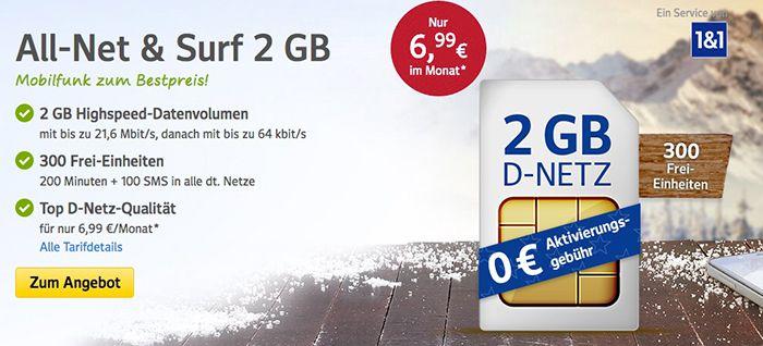 Bildschirmfoto 2016 12 28 um 10.38.28 1&1 All Net & Surf Special ab 6,99€/Monat   bis zu 300 Freieinheiten + 4 GB Internet