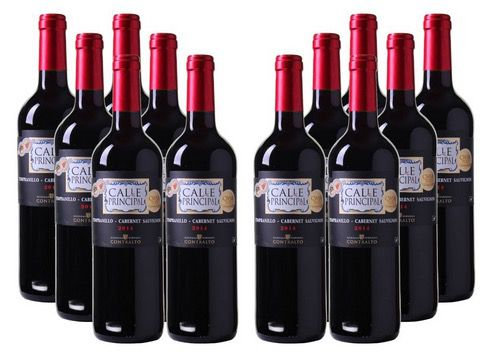 12 Flaschen Bodegas Vinedos Contralto Calle Principal Rotwein für 47,88€   goldprämiert!