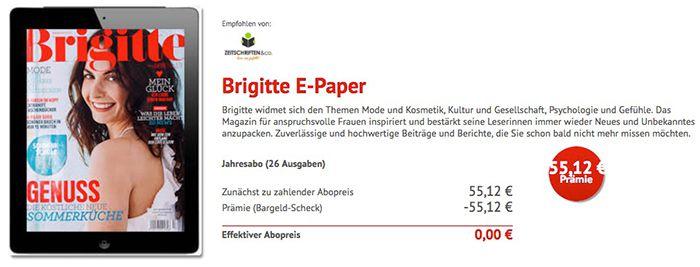 Bildschirmfoto 2017 01 20 um 15.22.42 Gratis! Jahresabo Brigitte als e Paper dank Bargeldprämie (statt 55€)