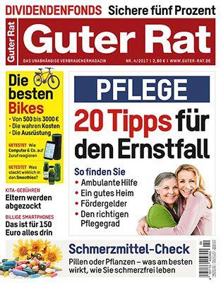 12 Ausgaben Guter Rat für 31,20€ + 20€ Verrechnungsscheck & 5€ Rabatt bei Bankeinzug